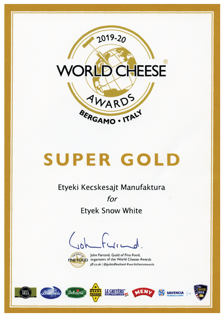 World Cheese Awards Super Gold
